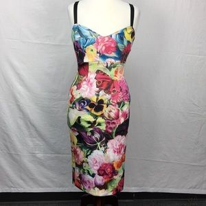 Ted Baker Doona  Floral Swirl Strappy Midi Dress